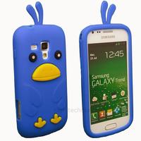 Housse etui coque silicone pour Samsung s7560 Galaxy Trend + film ecran - OISEAU BLEU
