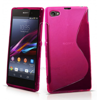 Housse etui coque silicone gel pour Sony Xperia Z1 Compact + film ecran - ROSE
