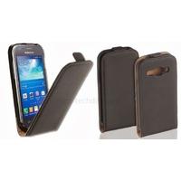 Housse etui coque PU cuir fine pour Samsung Galaxy Ace 3 s7270 s7275 + film ecran - NOIR