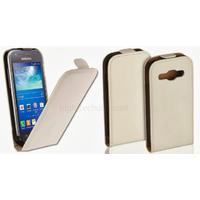 Housse etui coque PU cuir fine pour Samsung Galaxy Ace 3 s7270 s7275 + film ecran - BLANC