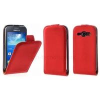Housse etui coque PU cuir fine pour Samsung Galaxy Ace 3 s7270 s7275 + film ecran - ROUGE