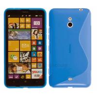 Housse etui coque pochette silicone gel pour Nokia Lumia 1320 + film ecran - BLEU