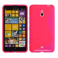 Housse etui coque pochette silicone gel pour Nokia Lumia 1320 + film ecran - ROSE