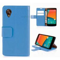 Housse etui coque pochette portefeuille pour Google Nexus 5 + film ecran - BLEU