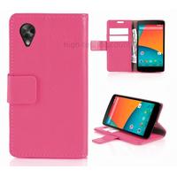 Housse etui coque pochette portefeuille pour Google Nexus 5 + film ecran - ROSE