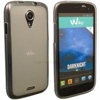 Housse etui coque pochette silicone gel pour Wiko Darknight + film ecran - BLANC TRANSPARENT