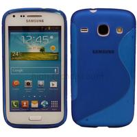 Housse etui coque gel pour Samsung G386 Galaxy Galaxy Core 4G LTE + film ecran - BLEU