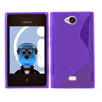 Housse etui coque pochette silicone gel pour Nokia Asha 503 + film ecran - MAUVE