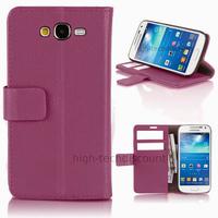 Housse etui coque portefeuille pour Samsung G7105 Galaxy Grand 2 + film ecran - MAUVE