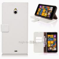 Housse etui coque pochette portefeuille PU cuir pour Nokia Lumia 1320 + film ecran - BLANC