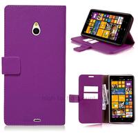 Housse etui coque pochette portefeuille PU cuir pour Nokia Lumia 1320 + film ecran - MAUVE