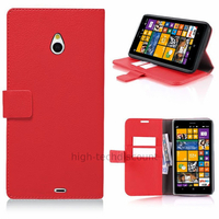 Housse etui coque pochette portefeuille PU cuir pour Nokia Lumia 1320 + film ecran - ROUGE