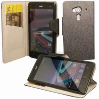 Housse etui coque pochette portefeuille pour Acer Liquid Z5 Duo + film ecran - NOIR