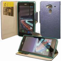 Housse etui coque pochette portefeuille pour Acer Liquid Z5 Duo + film ecran - BLEU