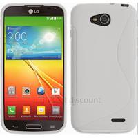 Housse etui coque pochette silicone gel fine pour LG L90 + film ecran - BLANC