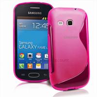 Housse etui coque silicone gel fine pour Samsung s6790 Galaxy Fame Lite + film ecran - ROSE