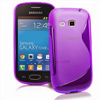 Housse etui coque silicone gel fine pour Samsung s6790 Galaxy Fame Lite + film ecran - MAUVE