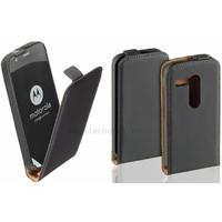 Housse etui coque pochette PU cuir fine pour Motorola Moto G + film ecran - NOIR