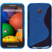 Housse etui coque pochette silicone gel pour Motorola Moto E + film ecran - BLEU