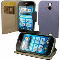 Housse etui coque pochette portefeuille pour Acer Liquid E2 Duo + film ecran - BLEU