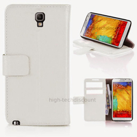 Housse etui coque portefeuille pour Samsung n7505 Galaxy Note 3 Neo Lite + film ecran - BLANC