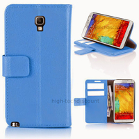 Housse etui coque portefeuille pour Samsung n7505 Galaxy Note 3 Neo Lite + film ecran - BLEU