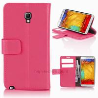 Housse etui coque portefeuille pour Samsung n7505 Galaxy Note 3 Neo Lite + film ecran - ROSE
