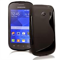 Housse etui coque silicone gel fine pour Samsung g310 Galaxy Ace Style + film ecran - NOIR