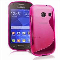 Housse etui coque silicone gel fine pour Samsung g310 Galaxy Ace Style + film ecran - ROSE