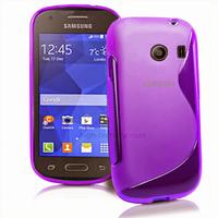 Housse etui coque silicone gel fine pour Samsung g310 Galaxy Ace Style + film ecran - MAUVE