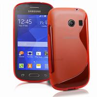 Housse etui coque silicone gel fine pour Samsung g310 Galaxy Ace Style + film ecran - ROUGE