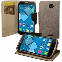 Housse etui coque pochette portefeuille pour Alcatel One Touch Pop C7 7041D + film ecran - NOIR