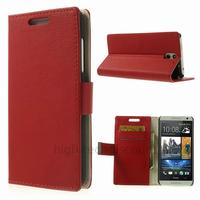 Housse etui coque pochette portefeuille PU cuir pour HTC Desire 610 + film ecran - ROUGE