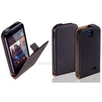Housse etui coque pochette PU cuir fine pour HTC Desire 310 + film ecran - NOIR