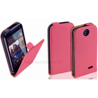Housse etui coque pochette PU cuir fine pour HTC Desire 310 + film ecran - ROSE