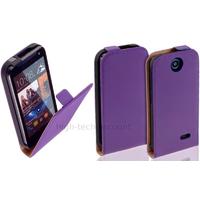 Housse etui coque pochette PU cuir fine pour HTC Desire 310 + film ecran - MAUVE