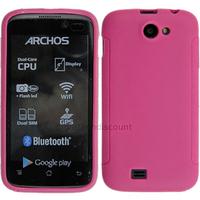 Housse etui coque pochette silicone gel fine pour Archos 40 Titanium - ROSE