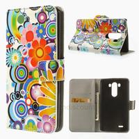 Housse etui coque pochette portefeuille PU cuir pour LG G3 + film ecran - FLEURS C