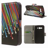 Housse etui coque portefeuille PU cuir pour Alcatel One Touch Pop C9 7047D + film ecran - ETOILES