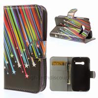 Housse etui coque portefeuille PU cuir pour Alcatel One Touch Pop C5 5036D + film ecran - ETOILES