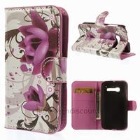 Housse etui coque portefeuille PU cuir pour Alcatel One Touch Pop C5 5036D + film ecran - LOTUS