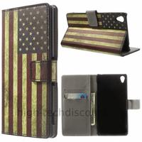 Housse etui coque pochette portefeuille PU cuir pour Sony Xperia Z3 + film ecran - USA