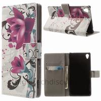 Housse etui coque pochette portefeuille PU cuir pour Sony Xperia Z3 + film ecran - LOTUS