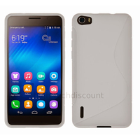 Housse etui coque pochette silicone gel fine pour Huawei Honor 6 + film ecran - BLANC