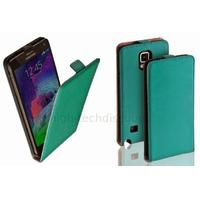 Housse etui coque pochette PU cuir fine pour Samsung G910F Galaxy Note 4 + film ecran - BLEU