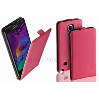 Housse etui coque pochette PU cuir fine pour Samsung G910F Galaxy Note 4 + film ecran - ROSE