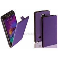 Housse etui coque pochette PU cuir fine pour Samsung G910F Galaxy Note 4 + film ecran - MAUVE