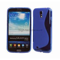 Housse etui coque silicone gel pour Samsung i9200 Galaxy Mega 6.3 + film ecran - BLEU