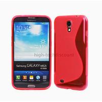 Housse etui coque silicone gel pour Samsung i9200 Galaxy Mega 6.3 + film ecran - ROUGE