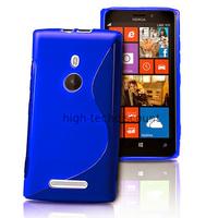 Housse etui coque pochette silicone gel pour Nokia Lumia 925 + film ecran - BLEU